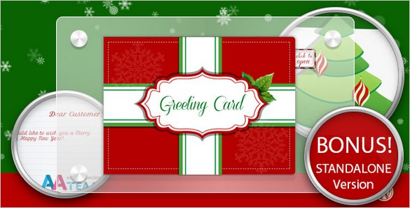 Business Christmas Greeting Card WordPress Plugin