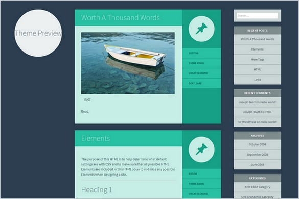 Flounder Free WordPress Theme
