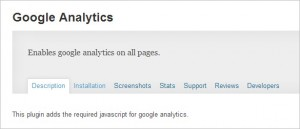 Google Analytics to WordPress - Google Analytics plugin