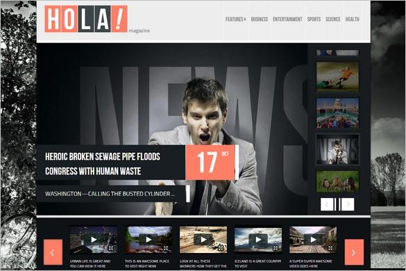 Magazine WordPress Themes - Hola