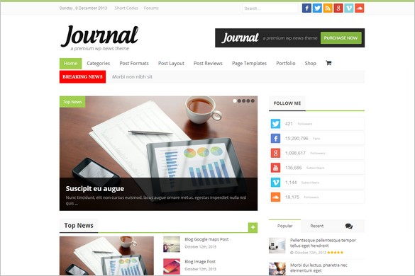 News Magazine WordPress Themes - Journal