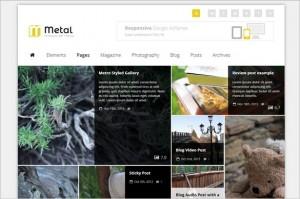 News Magazine WordPress Themes - Metal