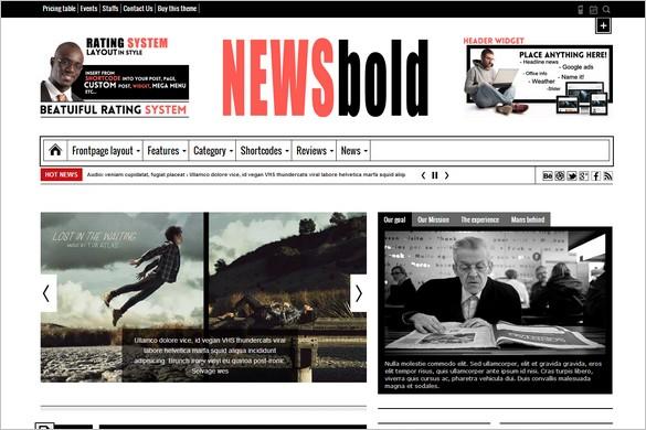 Magazine WordPress Themes - Newsbold