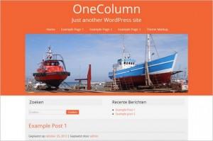 OneColumn Free WordPress Theme