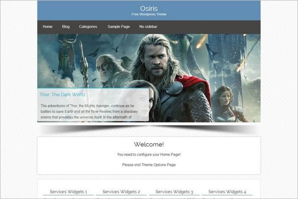 New Free WordPress Themes - Osiris