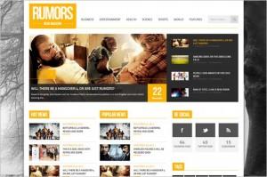 Best News Magazine WordPress Themes - Rumors