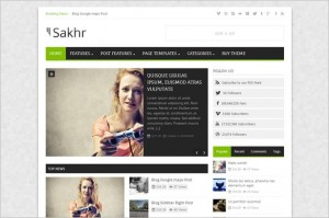 Sakhr Magazine WordPress Theme