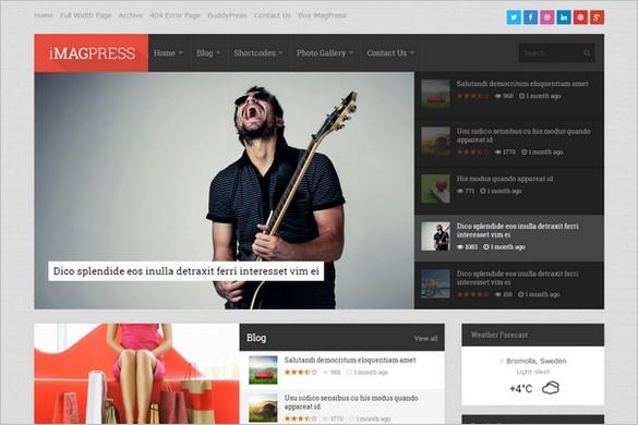 News & Magazine WordPress Themes - iMagPress