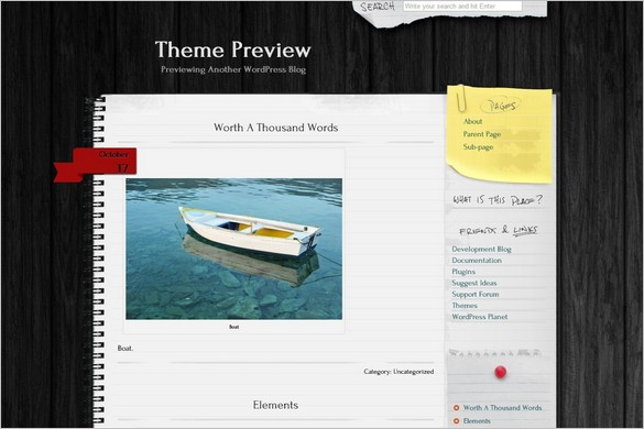 Anarcho Notepad Free WordPress Theme