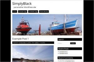 SimplyBlack Free WordPress Theme