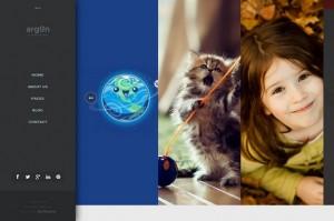 Argon - A Creative Fullscreen Photo WordPress Theme