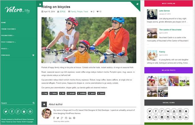 Velcro - A Customizable Bootstrap WordPress Theme