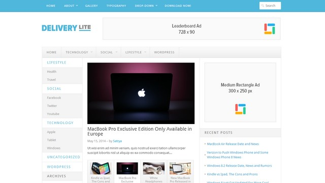 Delivery Lite - A Free WordPress Theme from Theme Junkie