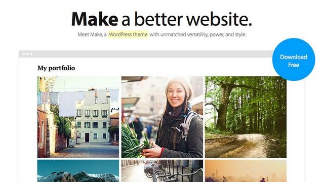 Make - A Wonderful Free WordPress Theme from Theme Foundry