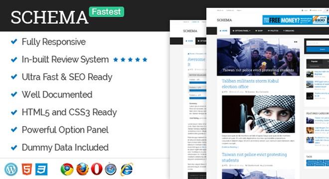 Schema - A WordPress Theme Optimized for Speed