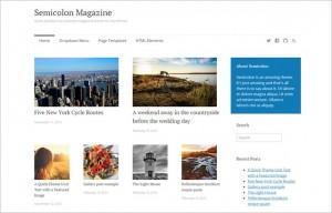 Semicolon - A Clean Free Magazine WordPress Theme