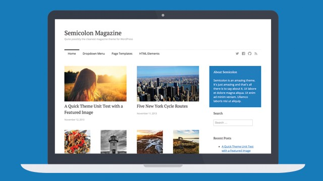 Semicolon - A Clean Free Magazine WordPress Theme