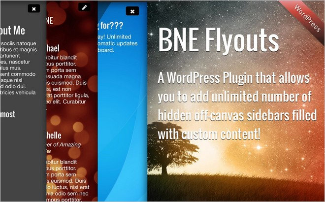 BNE Flyouts - A Flyout Content WordPress Plugin