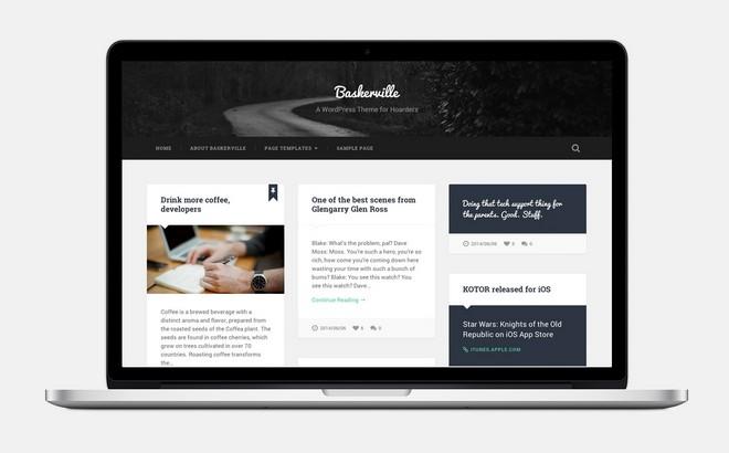 Baskerville - A Free Masonry WordPress Theme