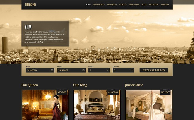 CSSIgniter Relaunch the Philoxenia WordPress Theme