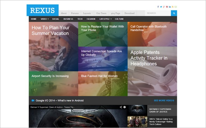 Rexus - A New Magazine Theme from Theme Junkie