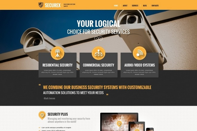 Top 6 WordPress Themes Custom-built for Security Company Websites ...