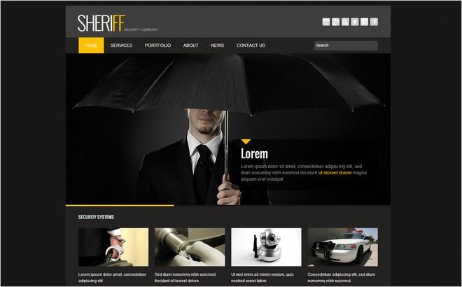 Top 6 WordPress Themes Custom-built for Security Company Websites ...