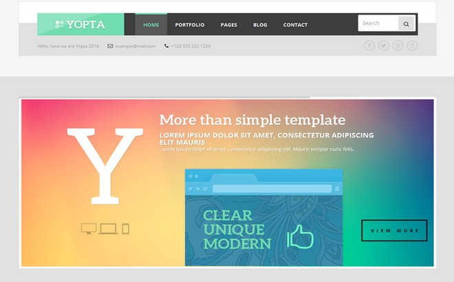 Yopta - A WordPress Theme with Bold and Modern Design
