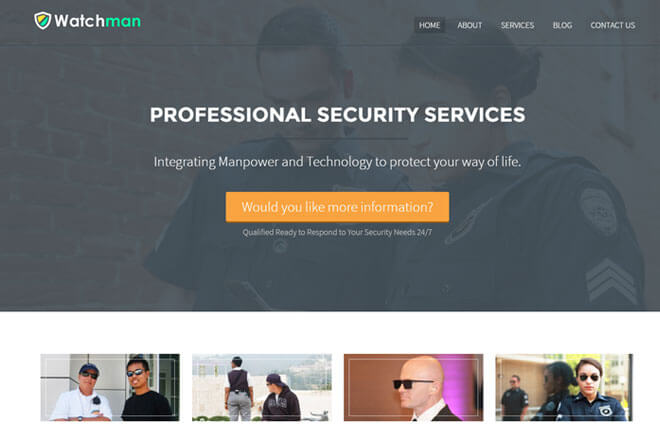 WordPress Themes Custom-built for Security Company Websites