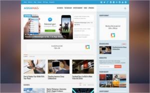 AquaMag WordPress Magazine Theme from Theme Junkie