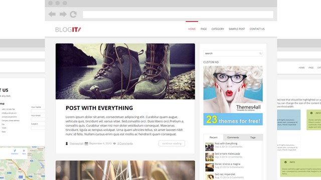 BlogIT - A WordPress Blog Theme for Bloggers