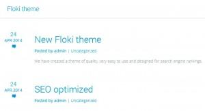 Floki - A Free Minimalist WordPress Theme