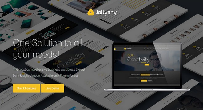Jollyany - The Only Business WordPress Theme You Need