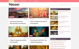 Mansar - A Free Blogging WordPress Theme
