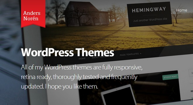 New Free WordPress Themes by Anders Norén