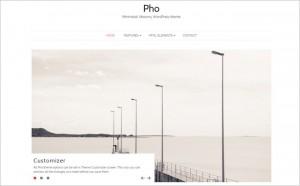 Pho - A Free Masonry WordPress Theme