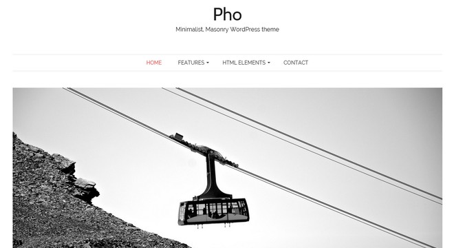 Pho - A Free Masonry WordPress Theme