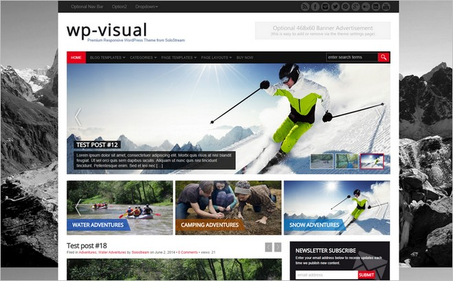 WP-Visual - A New Eye-catching WordPress Theme by SoloStream