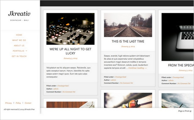 5 Free WordPress Themes With Masonry Layout