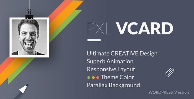 pxlvcard a creative vcard wordpress theme wp daily themes