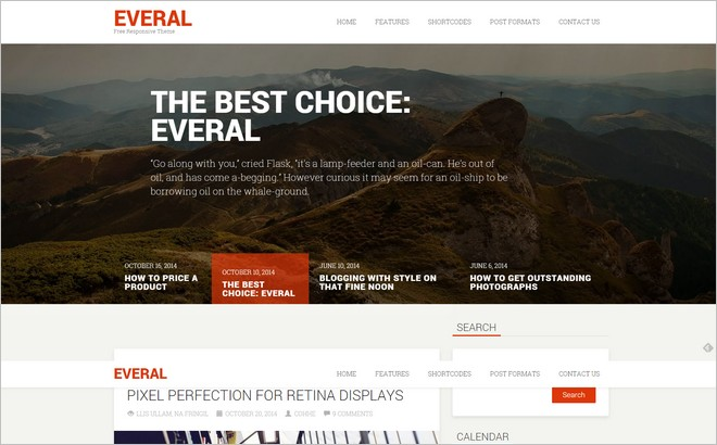 Everal - A Free Modern WordPress Theme from Cohhe Themes
