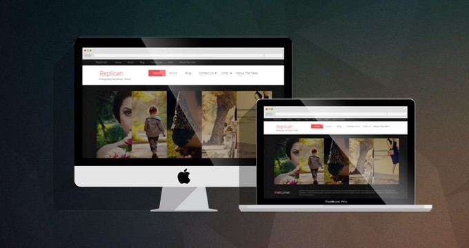 Replican - A Free Modern Photography WordPress Theme from SmallEnvelop