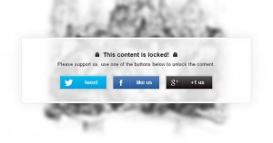 Lock Your Most Valuable Content With Social Locker WordPress Plugin