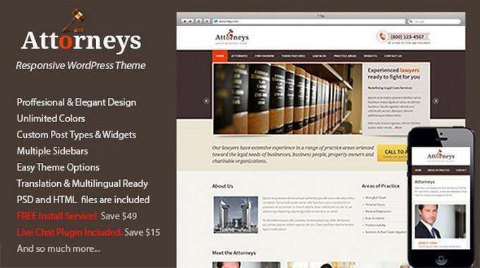 Attorneys – An Elegant WordPress Theme for a Law Company