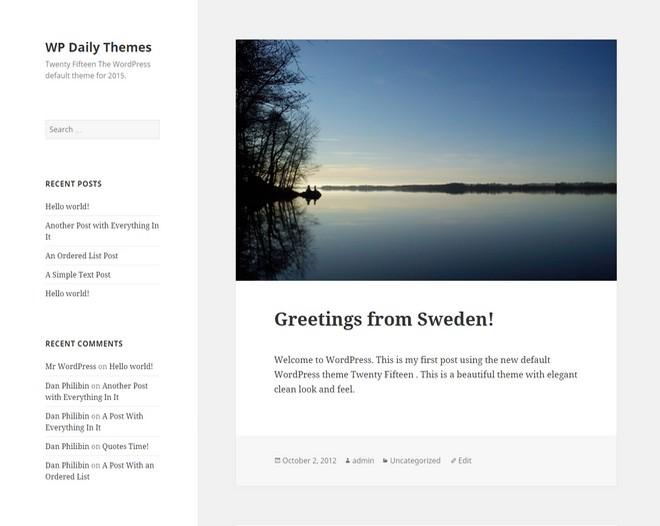 Twenty Fifteen - The New Default Theme in WordPress