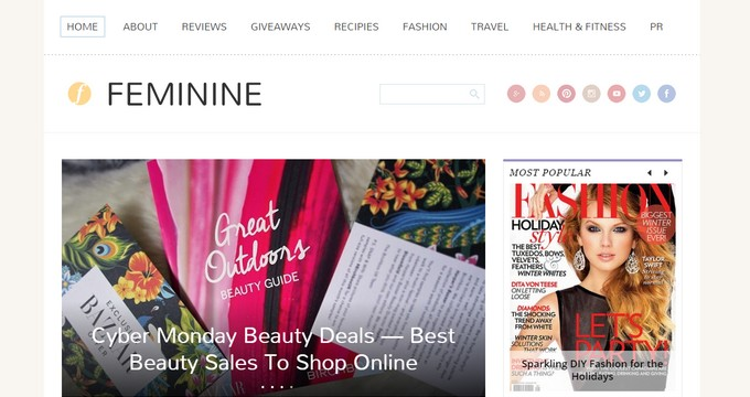 Feminine - A Minimal WordPress Theme With Feminine Touch by Magazine3