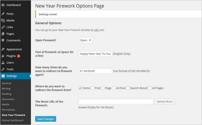 Light Up Your WordPress Website With The New Year Firework Free WordPress Plugin