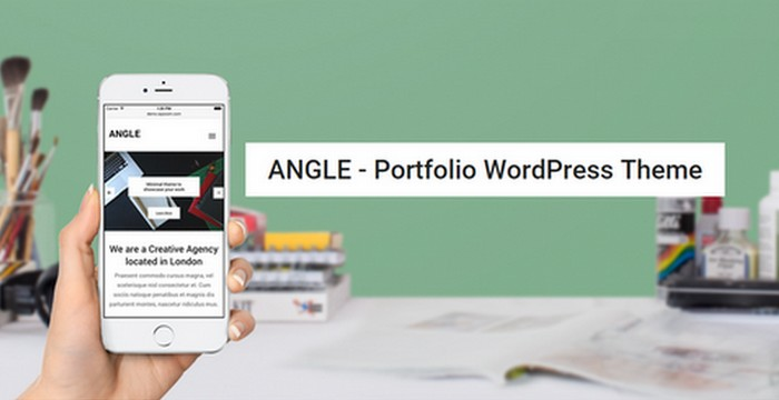 Angle - A WordPress Portfolio Theme with Minimal Beautiful Design by WPZOOM