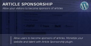 Article Sponsorship Plugin Review