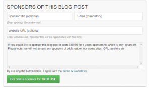Article Sponsorship Plugin Review - Terms and conditions